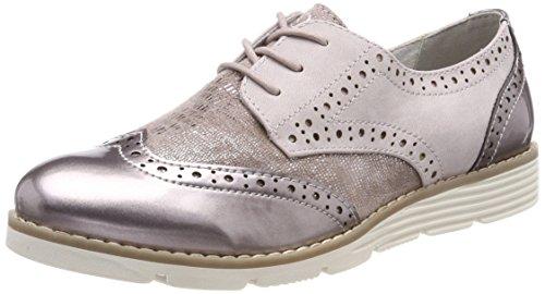 Rosa Rose de Oxford s Zapatos Oliver Comb Cordones Mujer para 23623 nAn486wqR
