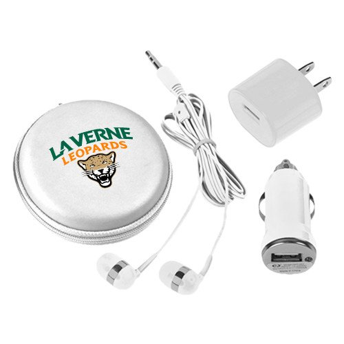 LaVerne 3 in 1 White Audio Travel Kit 'Official Logo' by CollegeFanGear
