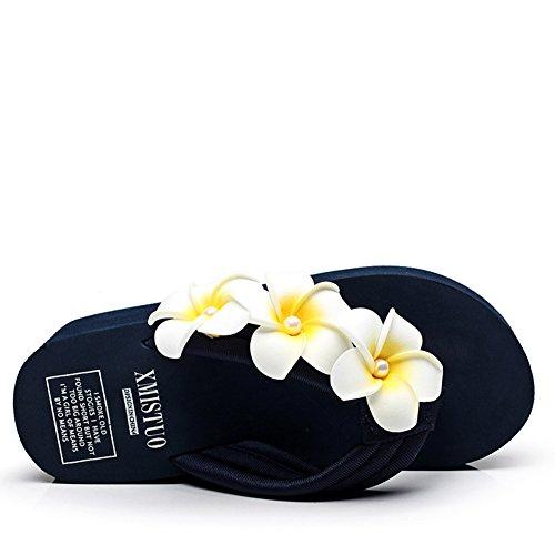 5 Cm avec Talons Hauts Tongs 5 Femmes 38 Blue DE Sandals Blue Épais des Summer PxIw1AWqfv