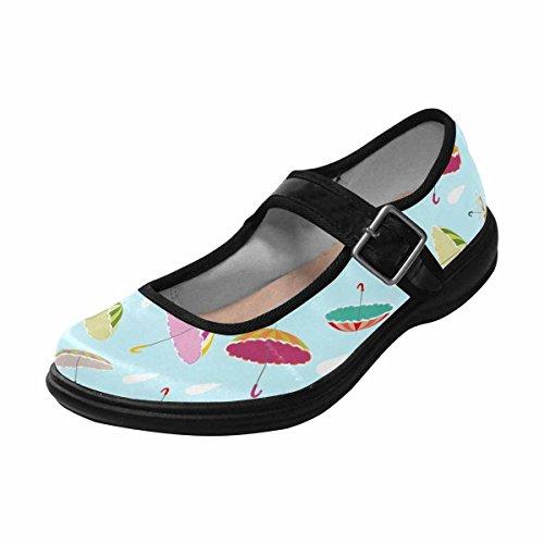 InterestPrint Womens Comfort Mary Jane Flats Casual Walking Shoes Multi 8 pf2tw97J