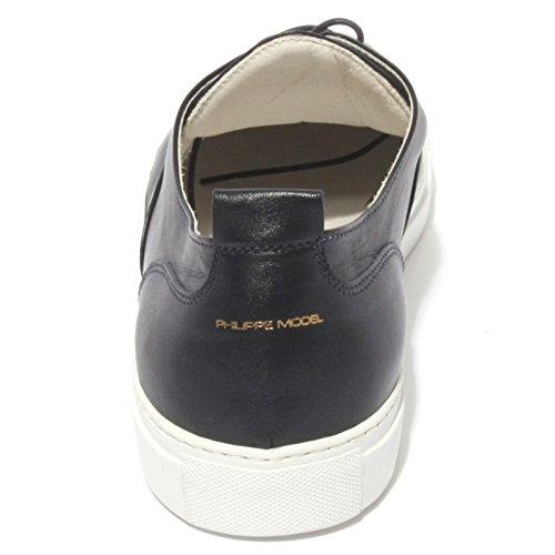 B0587 sneaker uomo PHILIPPE MODEL scarpa blu shoes men Blu