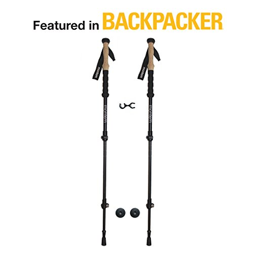 Montem Ultralight Carbon Fiber Hiking/Walking/Trekking Poles - One Pair (2 Poles)