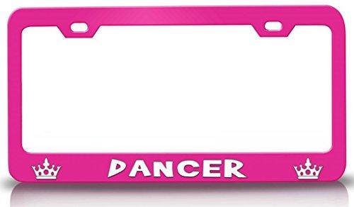 license plate frame dancer - 5