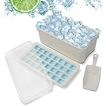 Ice Cube Bin Scoop Trays - Use It as a Portable Box in the Freezer, Shelves, Pantry