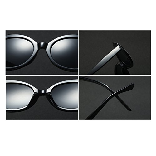 Gris Yefree Vintage Oval Retro Lens Mode Eyewear Unisex Round Oscuro Sunglasses Oversized Frame rPrqZUTR