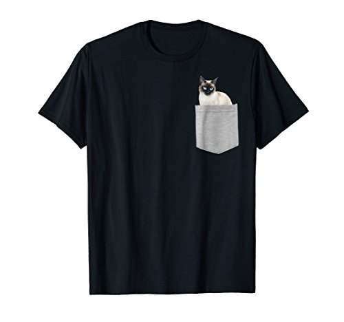 (Siamese Cat In Your Pocket Shirt)