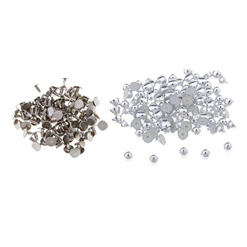 Wholesale 100 Sets Dome Shape Rivets Stud Spike Punk Style Button for Sewing (Color - ()