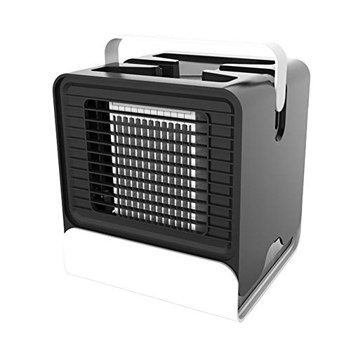 dezirZJjx Air Cooler, USB Charging Mini Portable Air Conditioner Humidifier Cooler Fan for Office Home Black ()