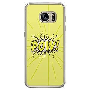Loud Universe Samsung Galaxy S7 Edge Comic Pow! Printed Transparent Edge Case - Yellow