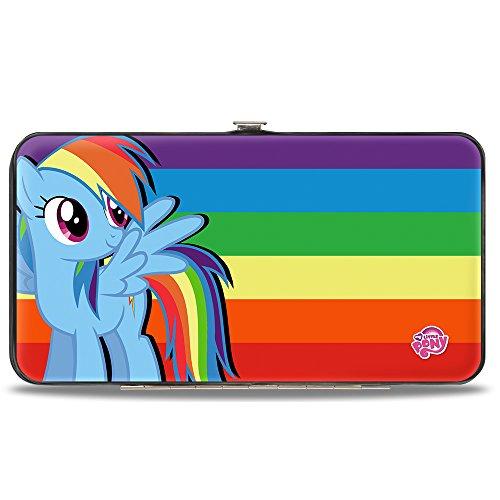 - Buckle-Down Hinge Wallet - Rainbow Dash Pose/Rainbow Stripe