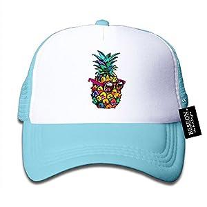 BESEON Babys Boys Girls Summer Sunglass Pineapple Mesh Snapback Hat Trucker Cap