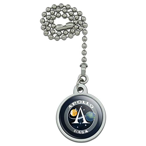 GRAPHICS & MORE NASA Apollo Space Program Patch Ceiling Fan and Light Pull Chain ()