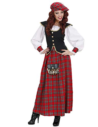 Ladies Scottish Lass Heavy Fab Costume Small Uk 8-10 For Scotland Fancy Dress