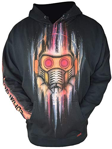 Airbrushed Guardians of The Galaxy Hoodie Inspired by Starlord Endgame Adult XL Black ()