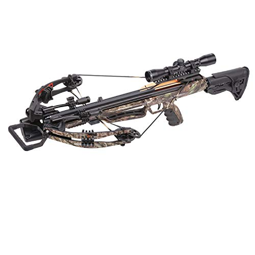 CenterPoint Mercenary Whisper 390 Tactical Adjustable Stock Compound Crossbow Package