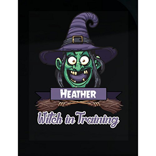 Halloween Costume T Shirt For Kids Heather Witch In Training Funny Halloween Gift - Sticker ()