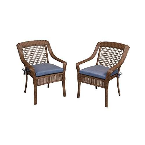 Hampton Bay Spring Haven Brown All-Weather Wicker Patio Dini