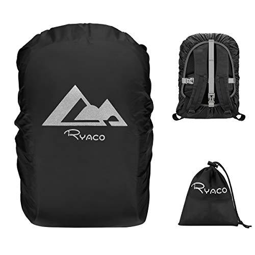 RYACO 15-50L rugzak regenhoes met antislip kruisgesp riem en reflecterende strepen voor kamperen, wandelen, reizen…