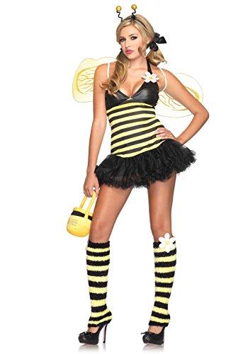 Leg Avenue Women's 4 Piece Daisy Bee Costume Yellow/Black, X-Small