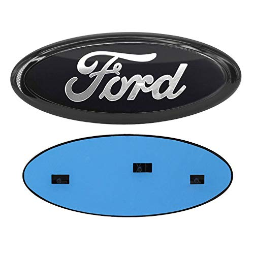 """2004-2014 Ford F150 Front Grille Tailgate Emblem, Oval 9""""X3.5"""", Black Decal Badge Nameplate Also Fits for 04-14 F250 F350, 11-14 Edge, 11-16 Explorer, 06-11 Ranger"""