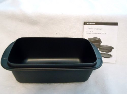Tupperware Ultra Pro Oven Microwave Loaf Pan - 2 Qt 1.9l Capacity Black