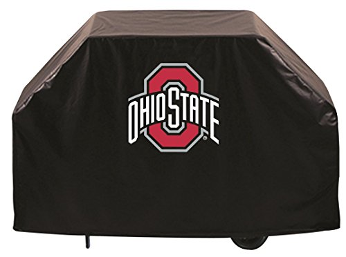 (Holland Bar Stool Co. Ohio State Buckeyes HBS Black Outdoor Heavy Duty Vinyl BBQ Grill Cover (60