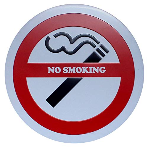 Doitsa 1x Redonda Señal de Advertencia - No Smoking - Placas ...