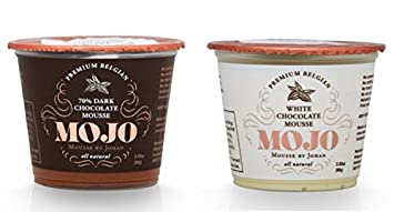 MOJO Belgian Chocolate Mousse Dark and White, 4 Pack (2 of each)