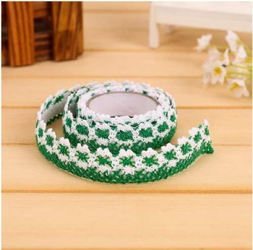 S-LOVE - Cinta de encaje decorativa de algodón 2 m verde: Amazon ...