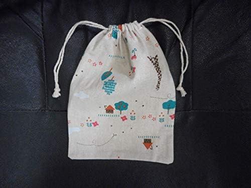 オシャレ巾着(街並み)駄菓子詰め合わせミニサイズ 巾着袋 ギフト リネン 麻 プレゼント 贈り物 子ども 人気 かわいい