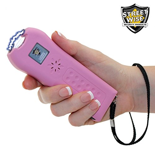 # 1 Ranked Ladies Back To School Stun Gun 21 Million Volt Rechargeable LED Flashlight with Loud Alarm Disable Pin, Pink, Perfect Size Triple Mode Protection (2 Stun Guns)