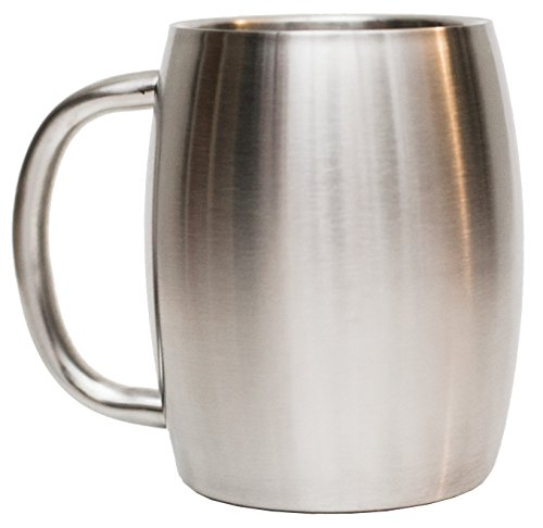 Stainless Steel Coffee Mug by Avito- 14 Oz Double Walled Insulated - BPA Free Healthy Choice Thermal Cup -...