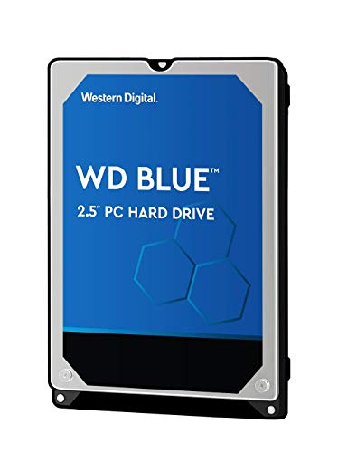 WD Blue 2TB Mobile Hard Drive - 5400 RPM Class, SATA 6 Gb/s, 128 MB Cache, 2.5in - WD20SPZX -