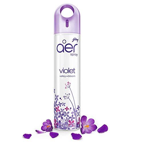 Godrej aer spray, Air Freshener for Home & Office – Violet Valley Bloom (240 ml), Long-Lasting Fragrance