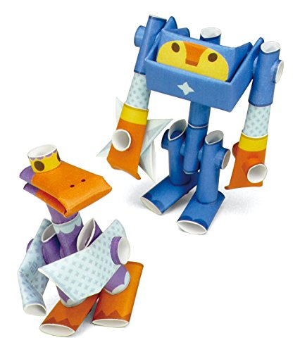 PIPEROID Smoke & Bill Paper Craft Robot kit from Japan - Ninja Mates (Old Package)