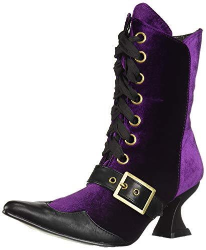Ellie Shoes Women's 301-TABBY Mid Calf Boot, Purple, 10 M US ()