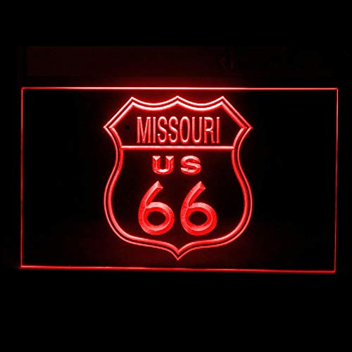 (120163 Route 66 US Missouri Car Racing Highway Display LED Light Sign )