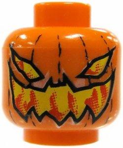 LEGO Pumpkin Jack O' Lantern Evil Pattern Head Accessory -