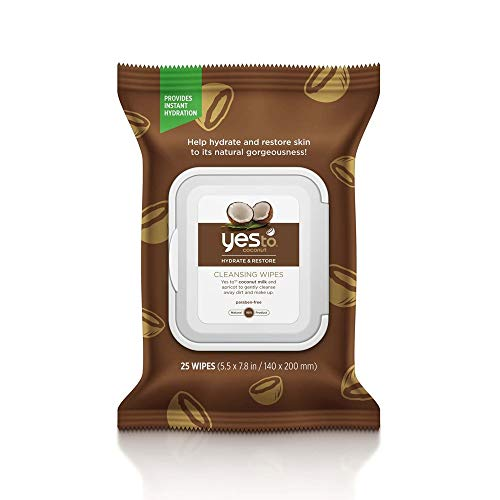 Yes To Coconuts Ultra Hydrating Cleansing Facial Wipes (30 Count) – Facial Wipes for Dry Skin, Gentle, Coconut Water, Coconut Oil & Fruit Extracts