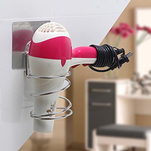 OLQMY-Bathroom Blower Rack, Suction Wall Magic Shelf, Bathroom Air Intake Rack