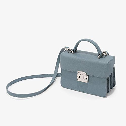 crossbody Bag single Leather Shoulder Strap Bag Removable Hand blue Clamshell Blue Gaoqq Women's Shoulder APZqvv