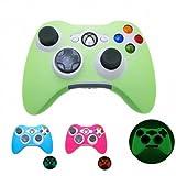 GREEN GLOW in DARK Xbox 360 Game Controller