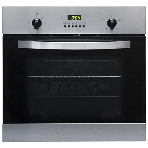 SIA SO112SS 60cm Built-in Digital Single Electric Fan Oven in Stainless...