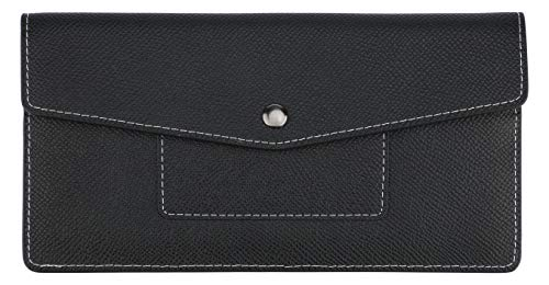 Lavemi RFID Blocking Ultra Slim Real Leather Credit Card Holder Clutch Wallets for Women(2-Envelope - Compact Clutch Wallet