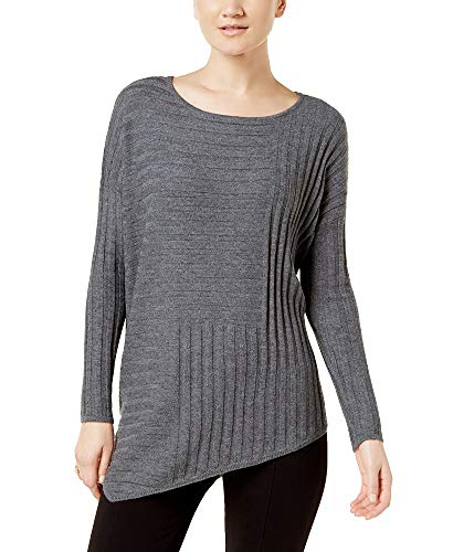 INC International Concepts Asymmetrical Sweater (Medium Heather Grey, XL) ()