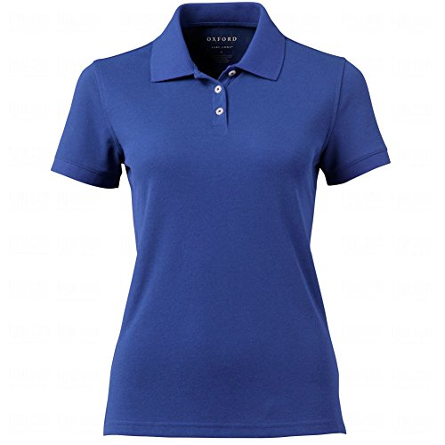Oxford America Women's Solid Pique Short Sleeve Polo (Ultra Marine, X-Large) by Oxford