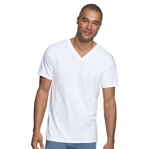 Hanes Classics Men's Traditional Fit V-Neck Undershirt 3-Pack_White_3XL