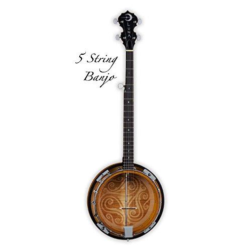 Luna Folk Series Celtic Five-String Banjo by Luna Guitars
