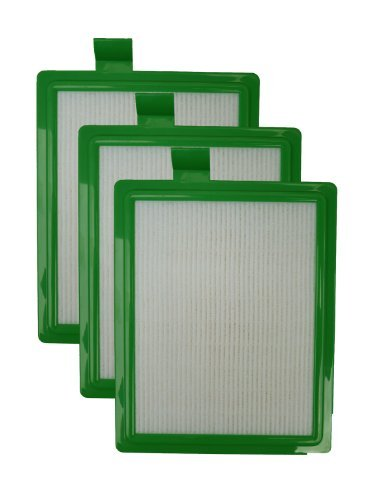 EnviroCare replacement HEPA Vacuum Filter for Eureka HF-1 Canisters 3 Filters by EnviroCare