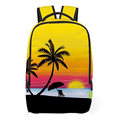 JPOQW(TM) 3D Polyester Girls/Men Travel Backpack Shoulder School Bag - Man Bag D&g
